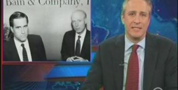 Jon Stewart Knocks Mitt Romney For His Private Sector Job Credentials At Bain