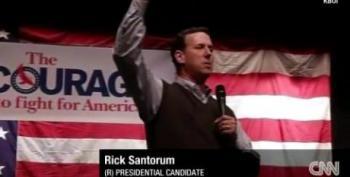 Santorum: Dems 'Look Down Their Nose' At Americans