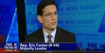 Eric Cantor Can't Explain Congress' Lousy Poll Numbers