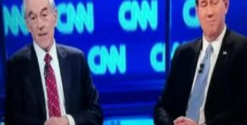CNN Zooms In On 'Frothy Santorum' Sign During Arizona Debate