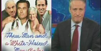 Stewart Slams GOP Arizona Debate: Three Men And A White-Haired Man-Baby