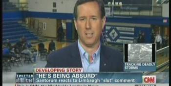 Santorum Calls Limbaugh An 'Entertainer' When Asked To Defend His Sexist Attacks Of Sandra Fluke