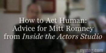 How To Act Human: James Lipton's Advice For Mitt Romney