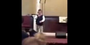 Church Cheers As 4-Year-Old Sings 'Ain't No Homos Gonna Make It To Heaven'