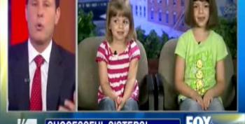 Kilmeade Asks Little Girls If Government Built Their Lemonade Stand