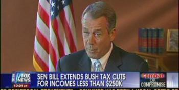 Boehner Pretends He's Willing To Negotiate In Good Faith On Tax Cuts