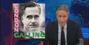 Jon Stewart Rips Romney For His Disastrous Visit To London