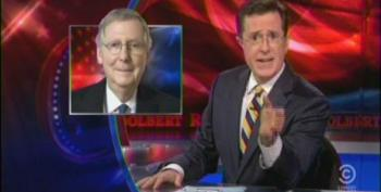 Colbert 'Salutes' Galapagos Sen. McConnell For Attempting To Stop Contraceptive Mandate