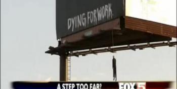 Dummy Hangs From Billboard In Vegas