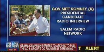 Shameless Mitt Romney Carps About Dishonest Campaign Ads