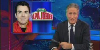 Stewart Knocks Right For Freaking Out Over 'Obamacare' Increasing Pizza Prices