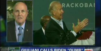 Rudy Giuliani Feigns Outrage Over Biden Remarks