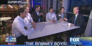 Fox And Friends Introduces Romney Sons With 'It's Raining Men'