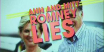 Late Show: Ann And Mitt Romney Lies