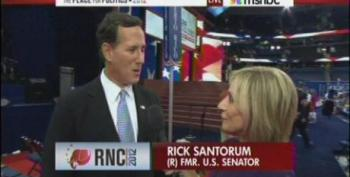 Andrea Mitchell Allows Rick Santorum To Lie About Welfare Waivers