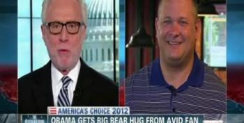 Bear-Hugging Pizza Man On Meeting President Obama
