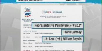 Rachel Maddow Slams Paul Ryan For Appearing At Values Voter Summit