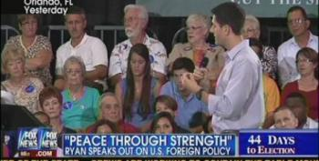 Paul Ryan Bemoans Defense Cuts: 'We Need Peace Through Strength'