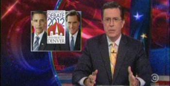 Colbert Report: Debate Hype And Mitt's Strategy