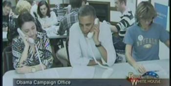 President Drops In To Make Calls At Virginia Phone Bank