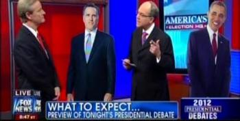 Fox Gives Debate Tips To Obama And Romney Cardboard Cutouts