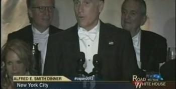Mitt Romney At The 2012 Alfred E. Smith Memorial Dinner