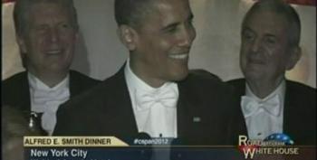 Barack Obama At The 2012 Alfred E. Smith Memorial Dinner