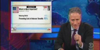 Jon Stewart Slams Trump And Palin Before Moving On To Serious Issue Of Vets' Employment