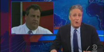 Jon Stewart Credits Chris Christie For Coming Down From Bulls**t Mountain After Hurricane