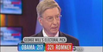 George Will Predicts Romney Win With 321 Electoral Votes