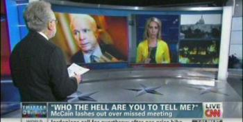 McCain Lashes Out At CNN Reporter - Network Gives Him A Pass