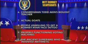Late Show: Top Ten Romney Scapegoats