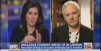 Erin Burnett Badgers Julian Assange Over Ecuador Asylum