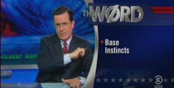 Colbert Suggests A New Wedge Issue For Republicans - White Male Patriarchy