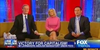 Fox News Celebrates Michigan Union Busting As 'Victory For Capitalism!'