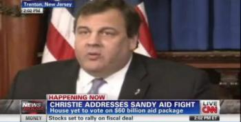NJ Gov. Chris Christie Rips House GOP For Blocking Sandy Relief