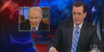 Colbert Tells Ladies They'd Better Live Up To Standards Set By 'Eye Pudding' Pat Robertson