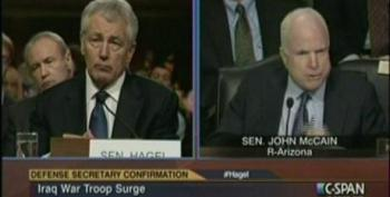 McCain Grills Hagel Over His Criticism Of Troop Surge In Iraq