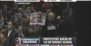 Code Pink Interrupts Brennan CIA Nomination Hearing
