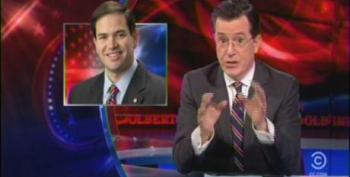 Colbert: Don't Worry Sen. Rubio, Nobody Noticed... That You Gave A Speech