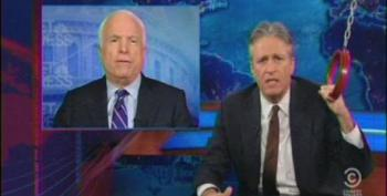 Jon Stewart Takes Down Graham And McCain For Holding Up Hagel Nomination Over Fake Benghazi Outrage