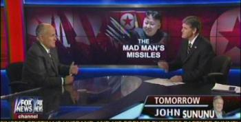 Chickenhawks Hannity And Giuliani Demand That Obama Get More Aggressive With N. Korea