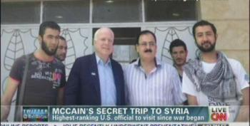 McCain Slips Across Border To  Meet With Rebels In Syria