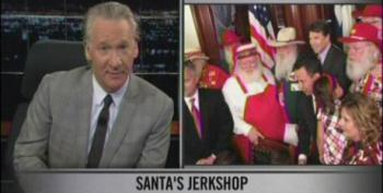 Maher Takes 'Bimbo' Rick Perry To Task For Ridiculous  'Merry Christmas' Law