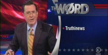 Colbert Nails Cable News For Poll Driven 'Reporting' Or 'Truthinews'