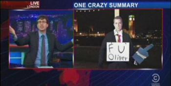 John Oliver's Colleagues Give Him A Daily Show Send-Off On His Last Night Guest Hosting