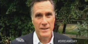 Meet The Press Features Romney In 'I Have A Dream' Segment
