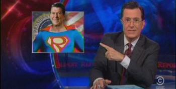 Colbert Hits The Right For Revisionist History On St. Ronnie