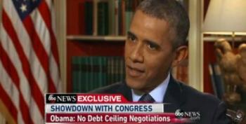 President Obama Says He Won't Negotiate On Debt Ceiling