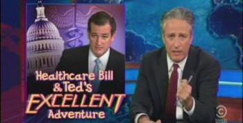 Jon Stewart Makes A Mockery Ted Cruz' Ridiculous 'Fauxlibuster'